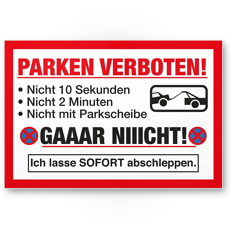 Prohibido aparcar divertido (30 x 20 cm), parkverbot Cartel ...