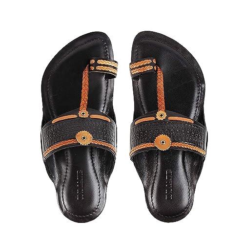Leather Hand Crafted Kolhapuri Chappals