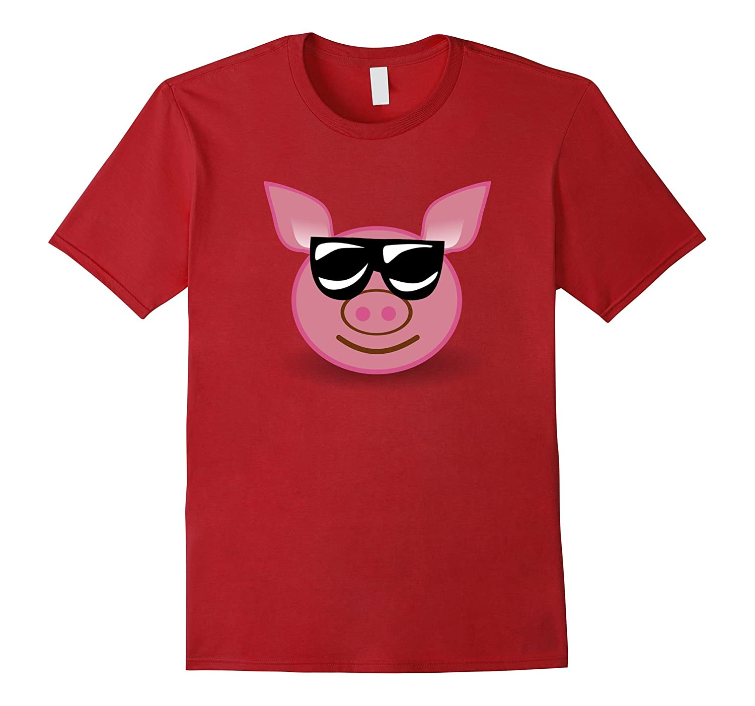 Funny Animal Shirt Piggy With Sunglasses For Pig Lovers