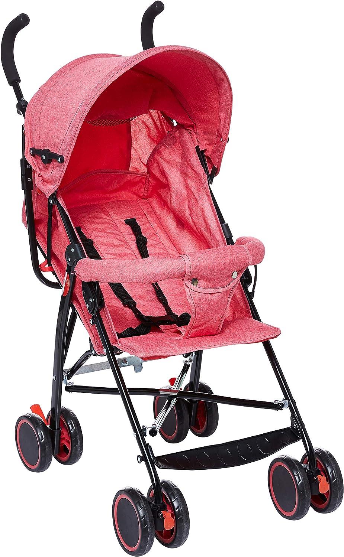 عربة الاطفال بيبي بلس خفيفة الوزن، احمر – BP7731