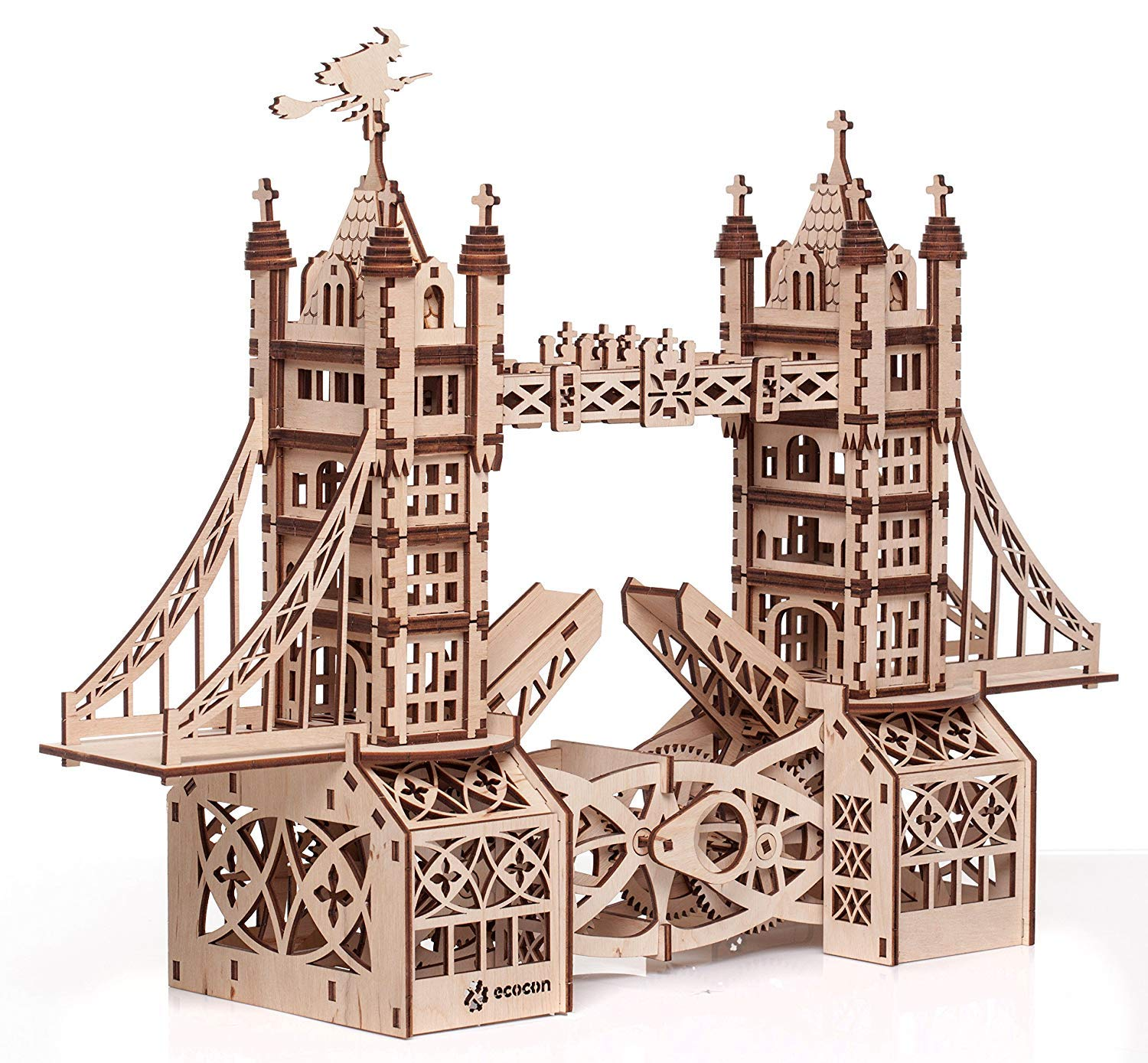 WeißZHE Tower Bridge Animate Mechanisches 3D Puzzle aus Holz