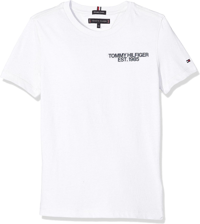 Tommy Hilfiger Essential Class. Graphic tee S/s Camiseta, Blanco (Bright White 123), 116 (Talla del Fabricante: 6) para Niños: Amazon.es: Ropa y accesorios