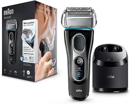 Braun Series 5 5197 Clean&Charge - Afeitadora eléctrica hombre, afeitadora barba, en húmedo y seco, máquina de afeitar barba con recortadora de precisión, negro: Amazon.es: Salud y cuidado personal