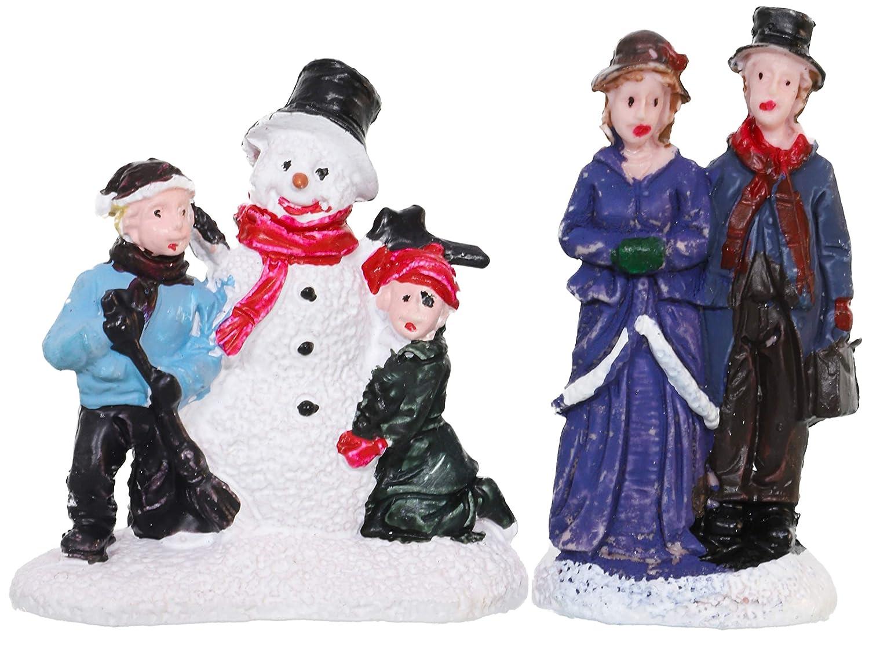 Christmas Decorations Toyland/® Mini Christmas Village /& Shop Scene Set with LED Lights 12 Piece Shops