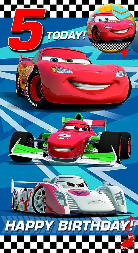 Amazon.com: Pórtico Disney Cars edad 5 Tarjeta de cumpleaños ...