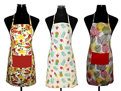J Home Womens Cotton Apron (19x30cm, Multicolour)