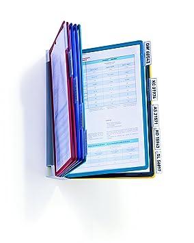 Durable 556700 - Archivador con fundas, multicolor: Amazon.es: Oficina y papelería