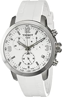 Tissot Mens T0554171701700 PRC 200 Analog Display Swiss Quartz White Watch