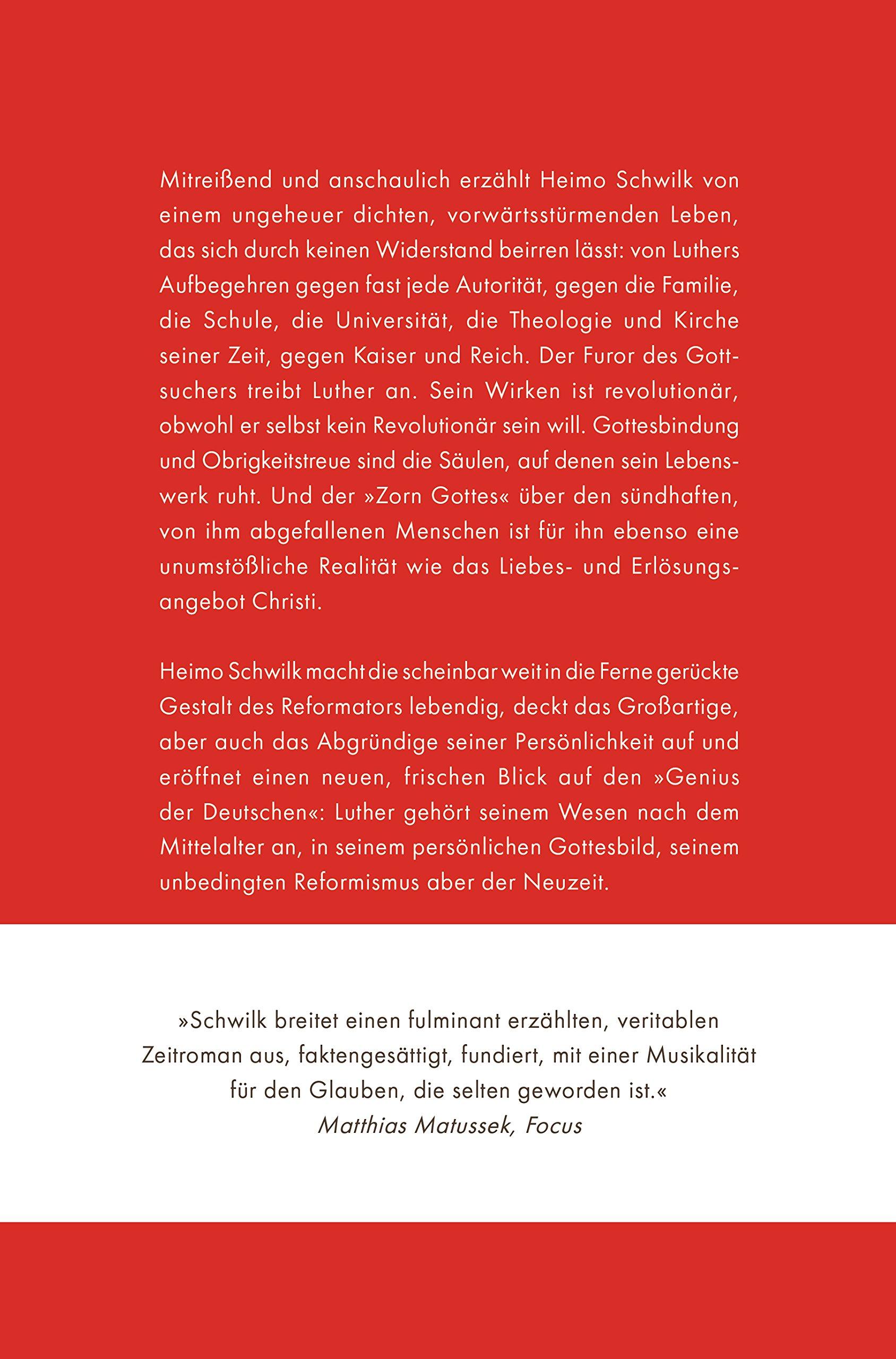 Luther Der Zorn Gottes Biografie Amazon Heimo Schwilk Bücher