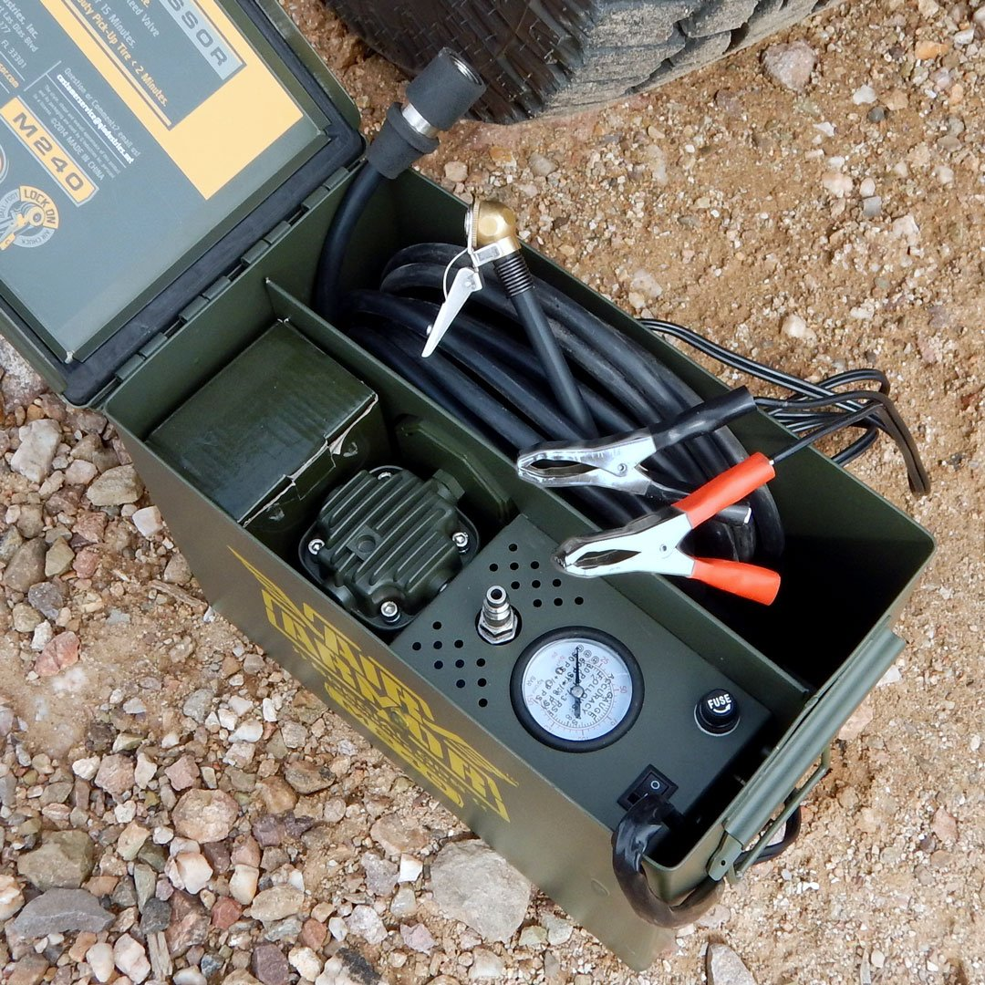 Air Armor M240 Portable 12-Volt Tactical Air Compressor Kit Tire Inflator by Air Armor (Image #12)