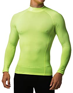 67c2ae656 Defender Men's Thermal ColdGear Quick Dry Compression Mock Long Sleeve T  Shirts