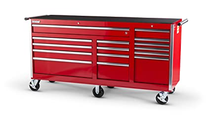 International VRB 7515RD 75 Inch 15 Drawer Red Tool Cabinet With 6 Heavy  Duty