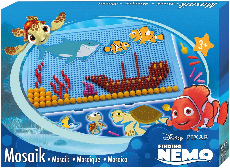 Disney Lena 35566–Mosaic Set Plate 28x 19cm, Plug Sizes 0.5cm Nemo and 1cm SIMM Spielwaren
