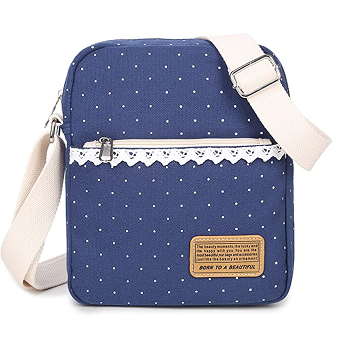 Leaper Causal estilo ligero lienzo mochilas de moda escuela ...