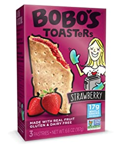 Bobo's TOASTeR Pastries, Strawberry, 2.2 oz Pastry (12 Pack), Gluten Free Whole Grain Breakfast Toaster Pastries