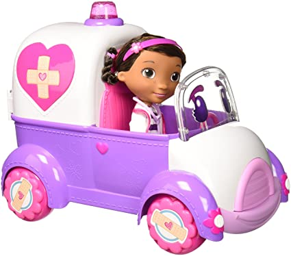 Amazon Com Just Play Doc Mcstuffins Rosie The Rescuer Toy Toys Games