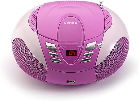 Lenco SCD-37USB Color rosa R portátil con USB