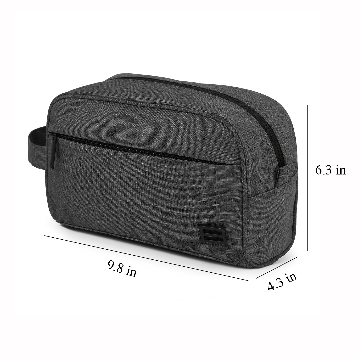 d94401cd2f BAGSMART Compact Water Resistant Toiletry Travel Bag Organizer Handy Makeup  Cosmetic Bag Carry on Dopp Shaving Kit for ...