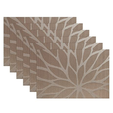Amazon.com: SiCoHome Placemats,Set of 6,Dining Room Placemats for ...