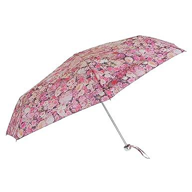 Susino - Paraguas plegable con estampado floral (Talla Única/Oro): Amazon.es: Ropa y accesorios