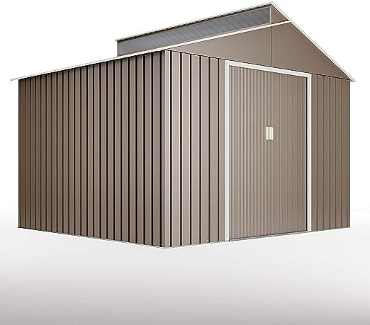 Hoggar by Okoru Cobertizo Premium Metal para Almacenamiento 7,25m2-282x257x222cm. Casta Jardin terraza: Amazon.es: Deportes y aire libre
