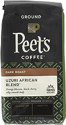 Peet's Coffee, People & Planet, Uzuri African Blend, Ground Coffee, 10.5 oz. Bag, Sustainable Coffee from Rwanda, Kenya, Tanzania & Ethiopia, Notes of Black Cherry, with a Silky Smooth Body