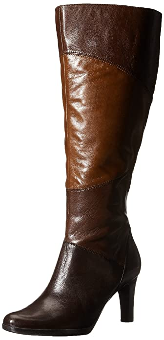 Naturalizer Women's Analise Wide Calf Riding Boot, Brown/Tan, ...