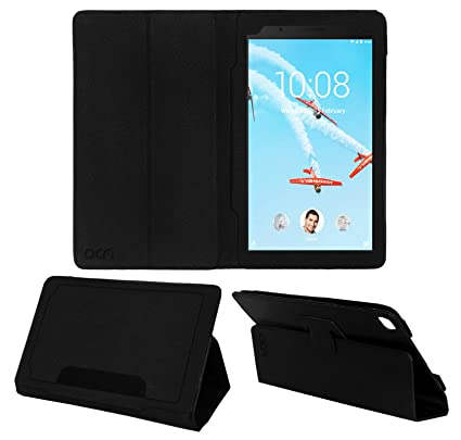 sneakers for cheap 150a5 a42ac Acm Executive Leather Flip Flap Case for Lenovo Tab 7 Essential Tablet  Front & Back Cover Black (ONLY Works for Lenovo TAB 7 Essential)