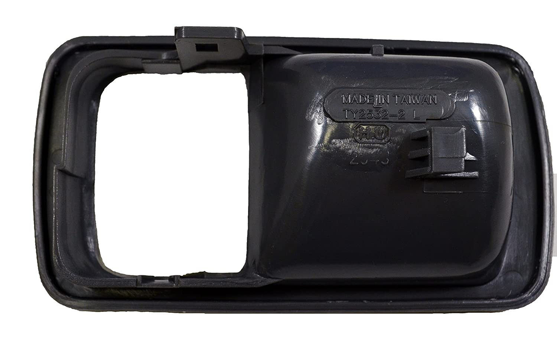 Driver Side Gray Inside Interior Inner Door Handle Trim//Bezel PT Auto Warehouse TO-2532G-2LH