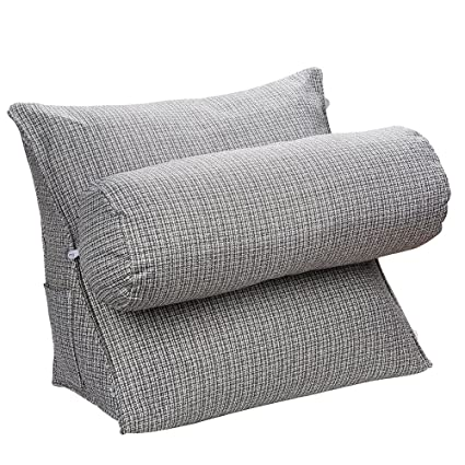 Amazon.com: HALOViE Adjustable Back Wedge Cushion Pillow 18.5x17.7x9inch  Sofa Bed Office Chair Rest Cushion Neck Support Pillow Pearl Wool: Home U0026  Kitchen