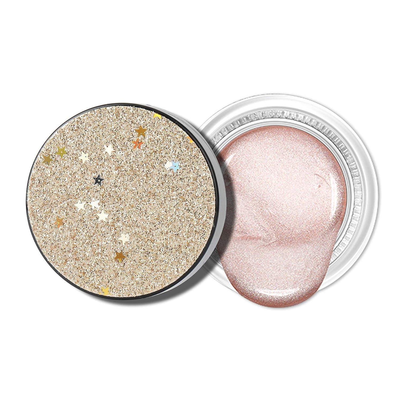 Jornarshar Jelly Eye Shadow, Jelly Texture Sparkling Pearl Glitter Waterproof Eyeshadow, Pink