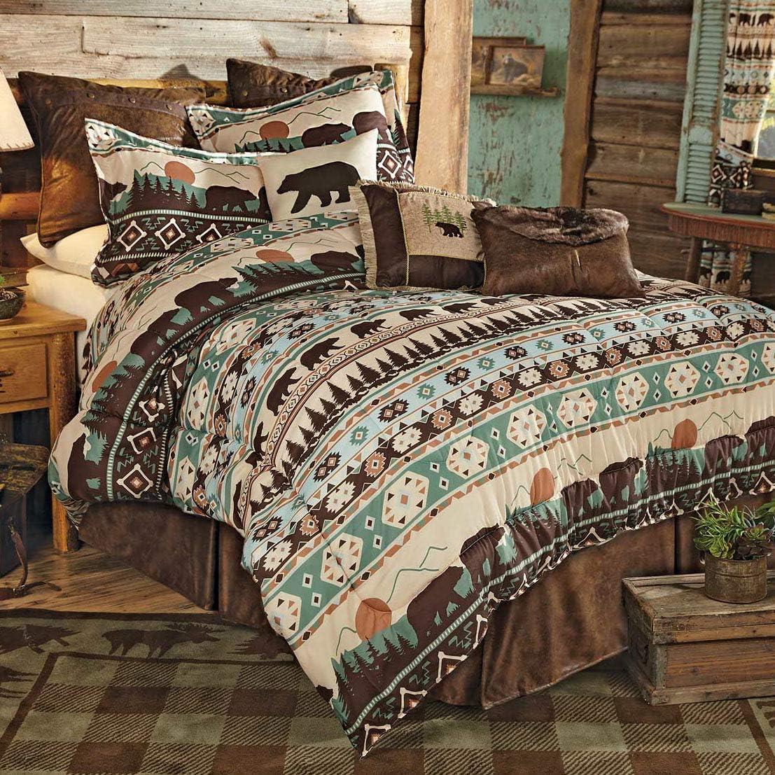 BLACK FOREST DECOR Sierra Mountain Bear Bed Set - King