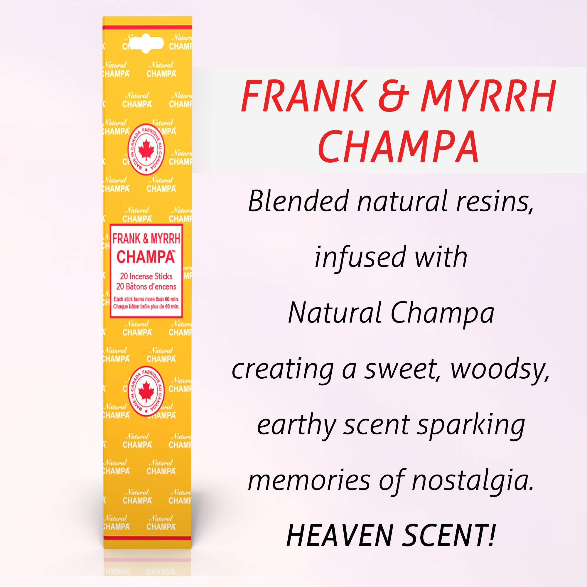 Natural Champa Incense Set - Classic Blended Collection of 140 Sticks with Free Incense Burner - Lasts 60+Minutes by Natural Champa (Image #6)