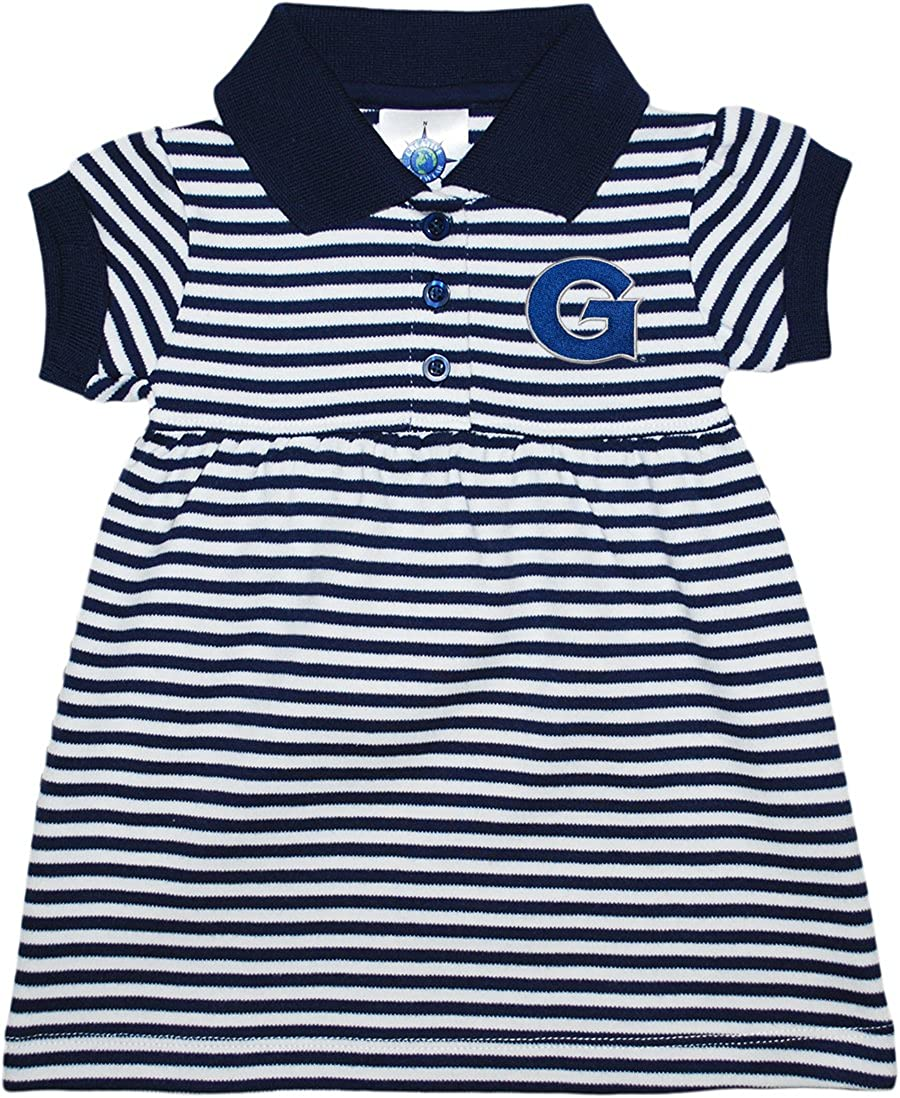 Georgetown University Bulldogs Striped Game Day Dress with Bloomer