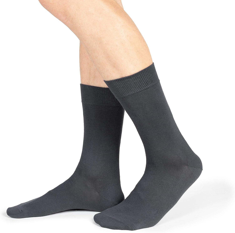 Ciocca Lot de 6 paires de chaussettes pour homme en coton chaud torsad/é r/ésistant Deux tailles