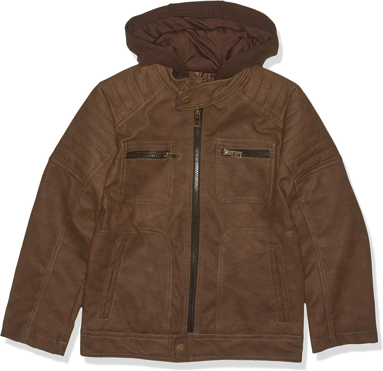Brown Urban Republic Big Boys PU Suede Jacket 8