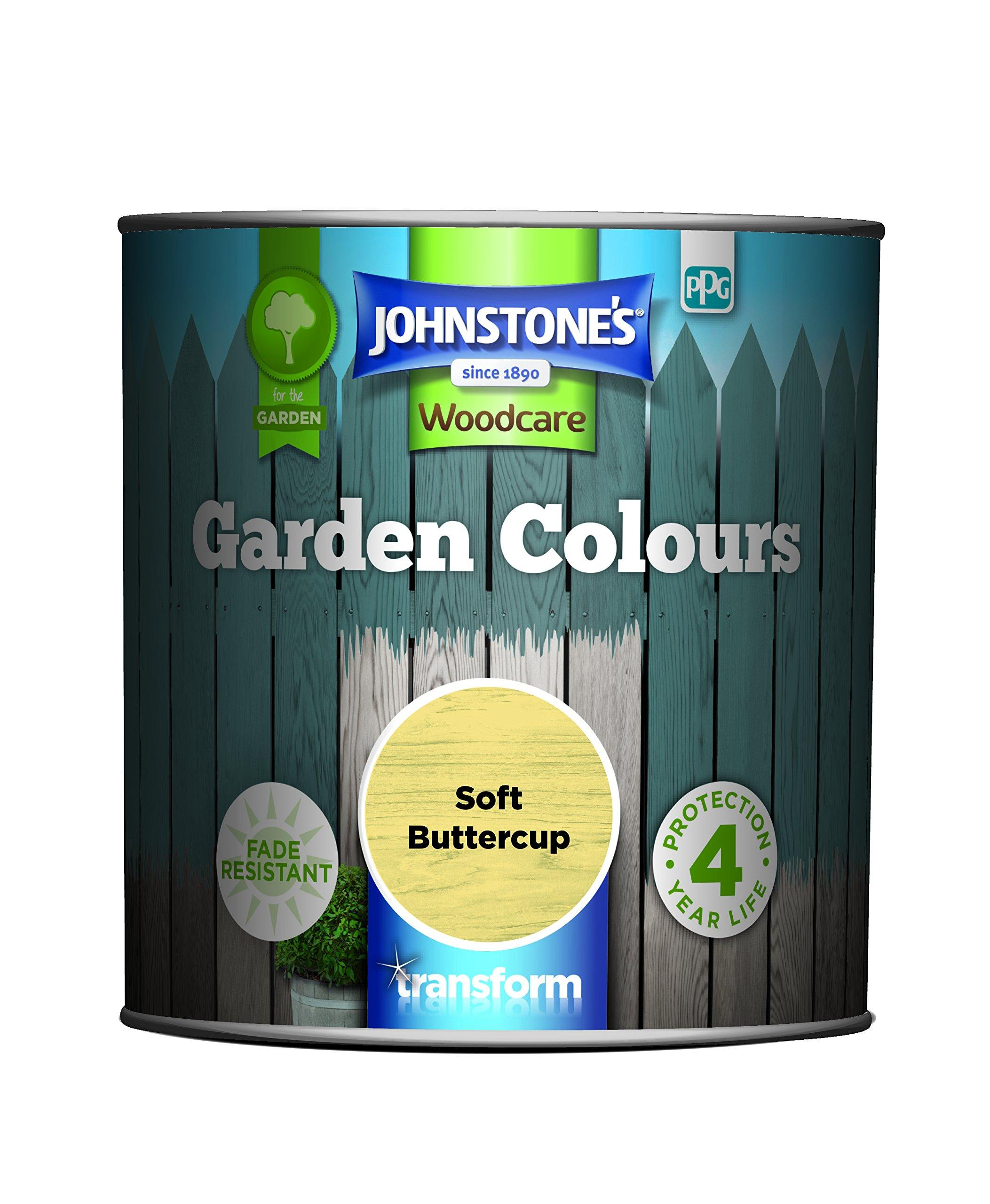 Johnstone's 309283 Garden Colours, Soft Buttercup, 1 Litre