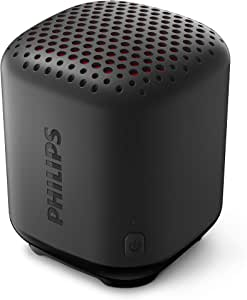 Philips Bluetooth Speaker S1505B/00 (Durable and IPX7 Waterproof, 8 Hours' Playback Time, Passive Bass Radiator, 20-m Range, Incl. Lanyard) Black – 2020/2021 Model