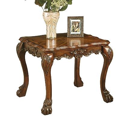 Pleasant Amazon Com Acme Dresden End Table Cherry Oak Kitchen Dining Theyellowbook Wood Chair Design Ideas Theyellowbookinfo