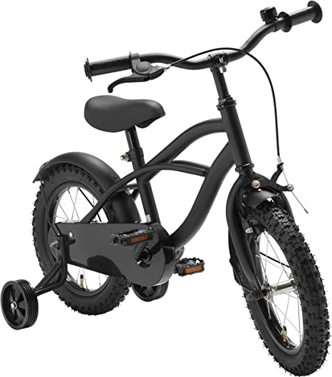 Bicicleta para niños Mate Negro 14 Pulgada Freno contrapedal Chico Chica: Amazon.es: Deportes y aire libre