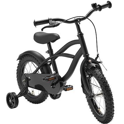 Kinderfahrrad 20 Zoll Black Cruiser Beleuchtung Rücktrittbremse Retro Fahrrad