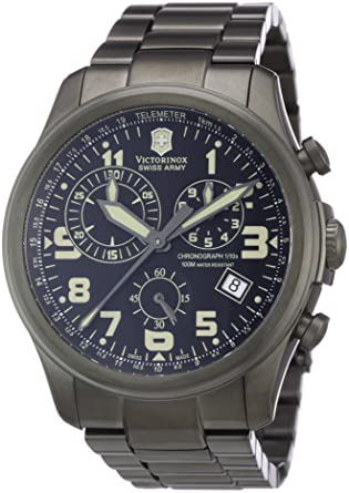 army victorinox titanium o watches swiss dial grey strap x i n rubber inox