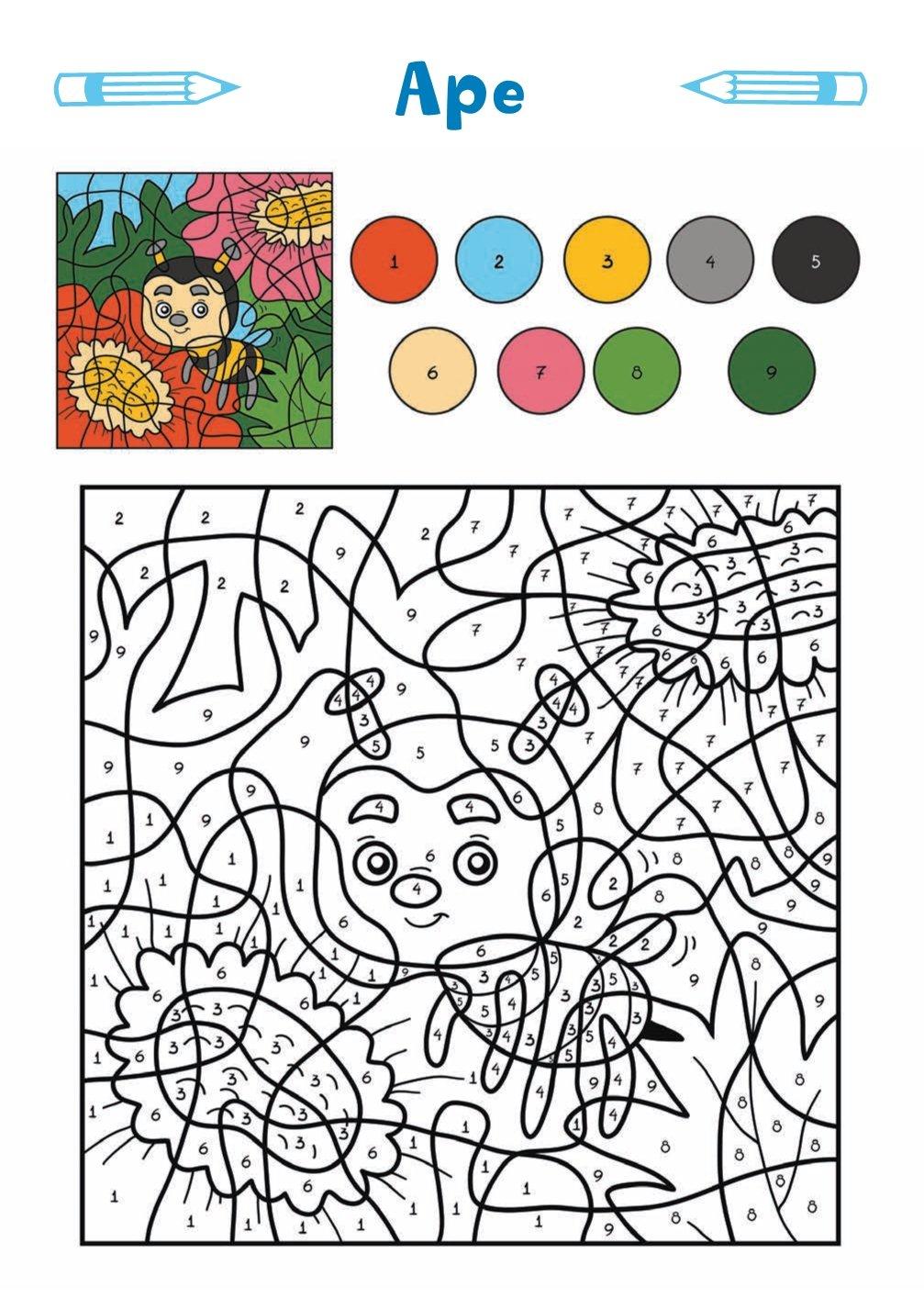 Colora Con I Numeri 48 Disegni 9788894902181 Amazoncom Books