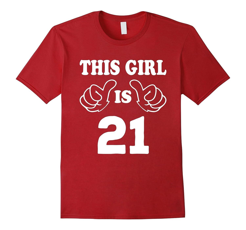 This Girl Is Twenty One 21 Years Old 21st Birthday Gift Idea Vaci