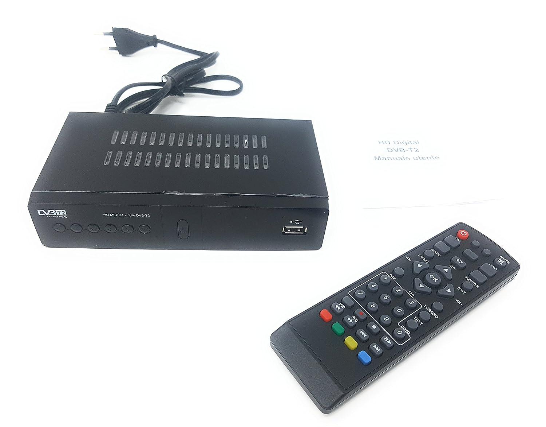 Descodificador digital terrestre, receptor DVB-T2, Full HD, euroconector, USB y HDMI, MPEG-4