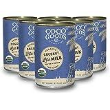 CocoGoodsCo Vietnam Single-Origin Organic Coconut Milk Lite/Light/Low-fat 13.5 fl. oz - Gluten-free, Non-GMO, Vegan…