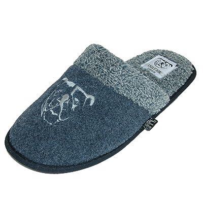 Ugly Me Men's Open Back Wool Microfiber Jasper Mule Slipper | Slippers