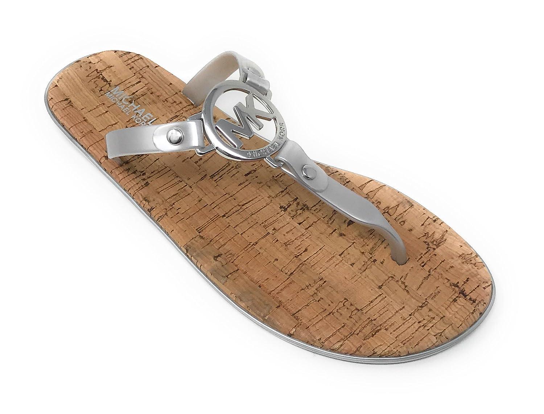 e444ced84746 Amazon.com  Michael Kors MK Charm Jelly Flip Flop Cork Bottom  Shoes