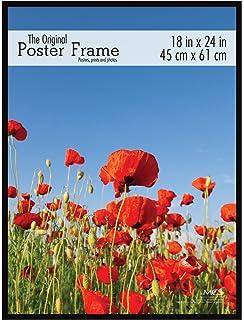 mcs 23834 18x24 original poster frame in black with pressboard back and styrene glazing
