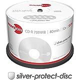 Primeon 2761102 CD-R Rohlinge (80 Min, 700MB, 52x Cakebox, 50-er Spindel)